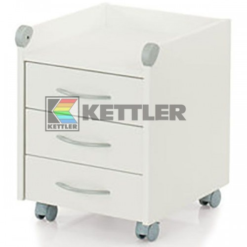 Тумбочка Kettler Roll On White, код: 06761-111