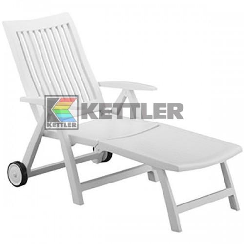 Шезлонг Kettler Roma White, код: 01638-000