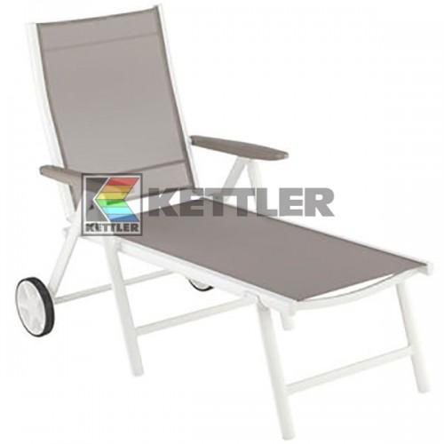 Шезлонг Kettler Vista Wheels White, код: 0103815-5500
