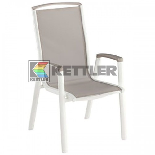 Кресло Kettler Vista Stackable White, код: 0103802-5500